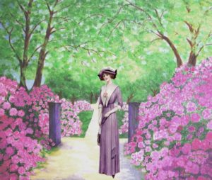 vintage-lady-rhododendron-garden